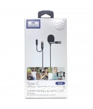 Микрофон Earldom ET-E39 разъем Type-C с зажимом
