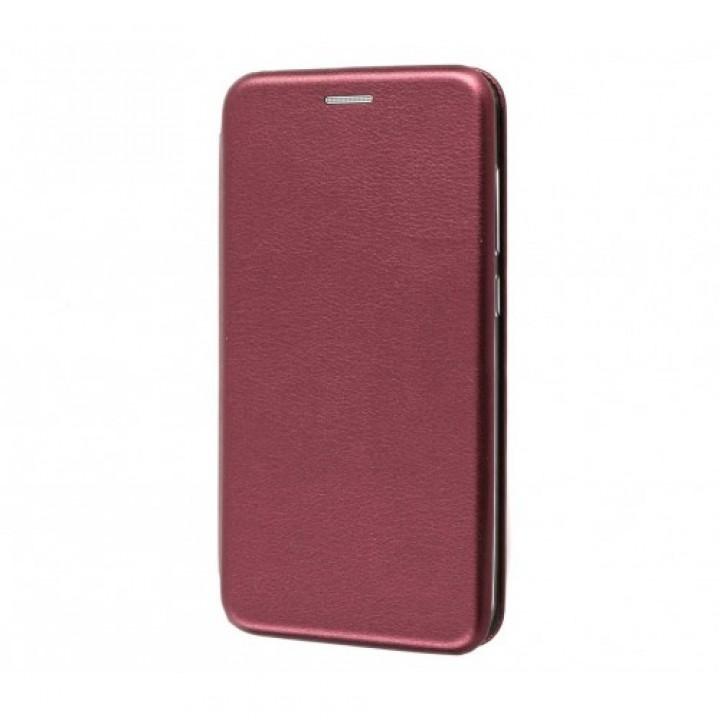 Чехол-книжка Galaxy Note 10 Lite (2020) / A81 Бок Круглые Края (Бордо)