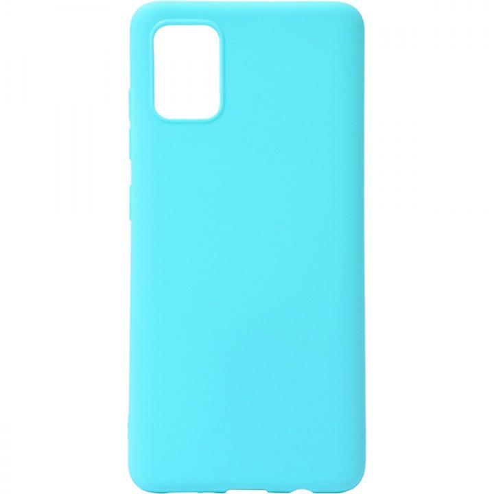 Крышка Samsung A405f (A40) Breaking Soft Touch (ГолуБой)