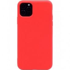 Крышка Xiaomi RedMi Note 9 Breaking Soft Touch (Красная)