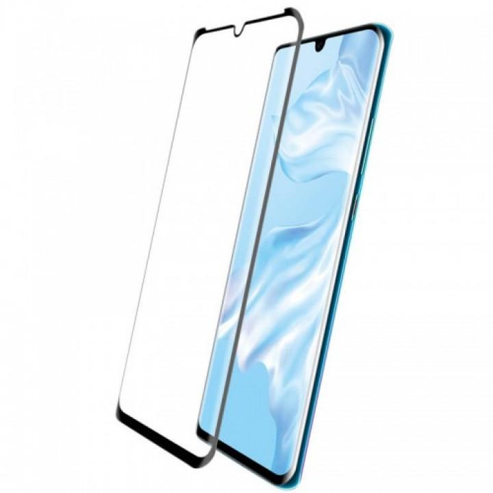 Защитное стекло Samsung Galaxy S20 Plus Изогнутое (Черное)