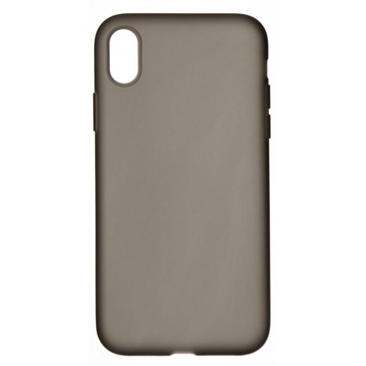Крышка Apple iPhone Xr Breaking Matte Пластиковая (Черная)