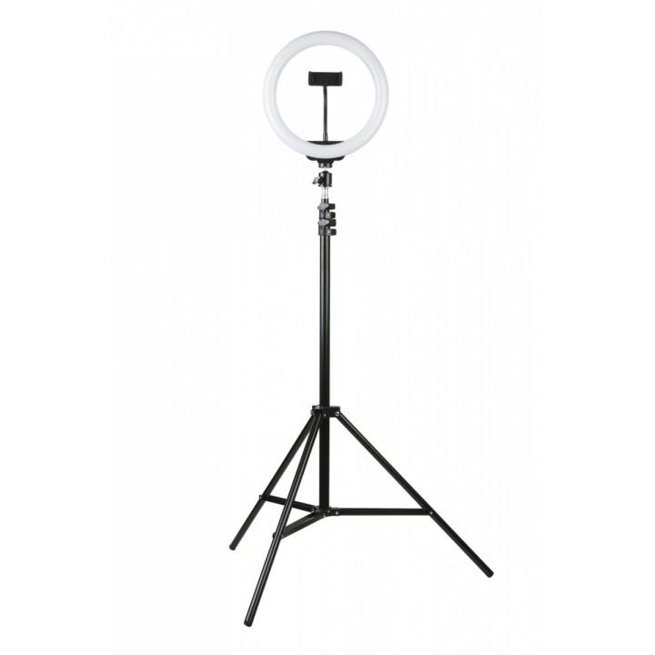 Трипод - штатив для видеосъемки с кольцевой светодиодной лампой 26см Ring Fill Light