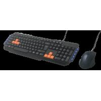 Комплект клав.+мышь проводной Ritmix Rkc-055