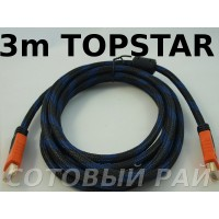 КаБель HDMI - HDMI (3 метра) Topstar