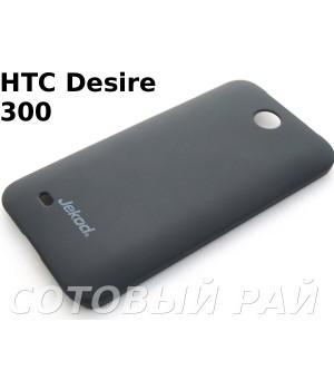 Крышка HTC Desire 300 (Zara Mini) Jekod пластик Черная