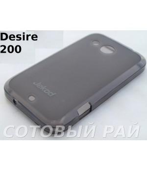Крышка HTC Desire 200 (102E) Jekod силикон (Серая)