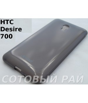 Крышка HTC Desire 700 Jekod силикон (Серая)