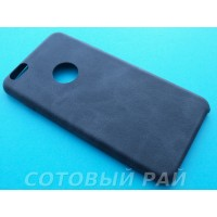 Крышка Apple iPhone 6 Plus Leather Ultra Slim (Черная)