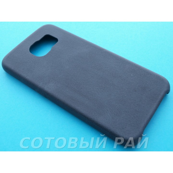 Крышка Samsung G920f (S6) Leather Ultra Slim (Черная)