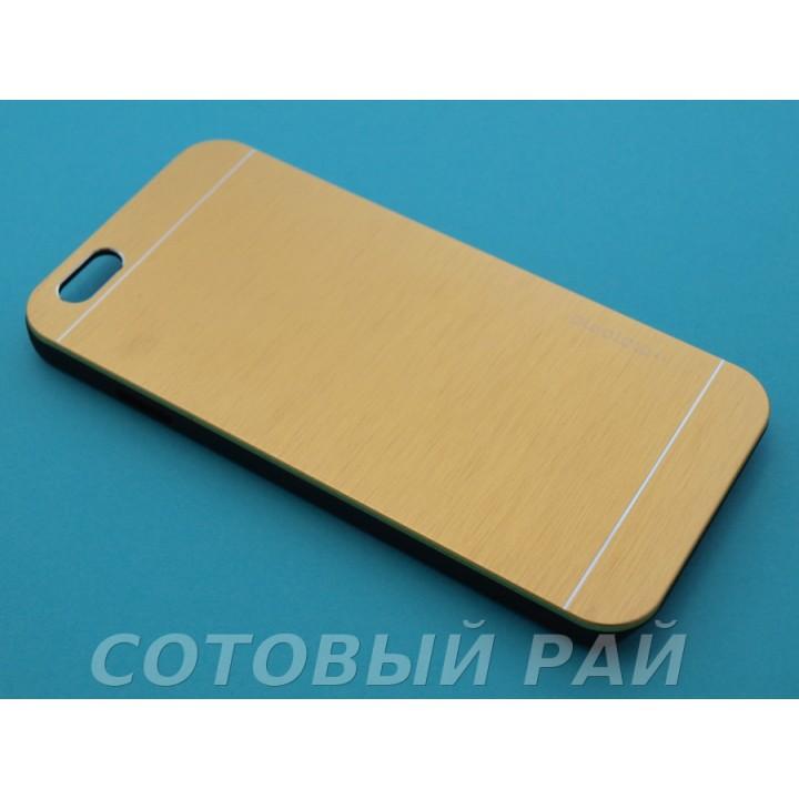 Крышка Apple iPhone 6 / 6s Motomo (Золотая)