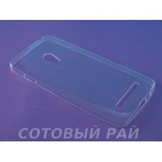 Крышка Asus Zenfone 5 (A500KL) Силикон_VRN (Белая)