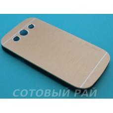 Крышка Samsung i9300 (S3) Motomo (Золотая)
