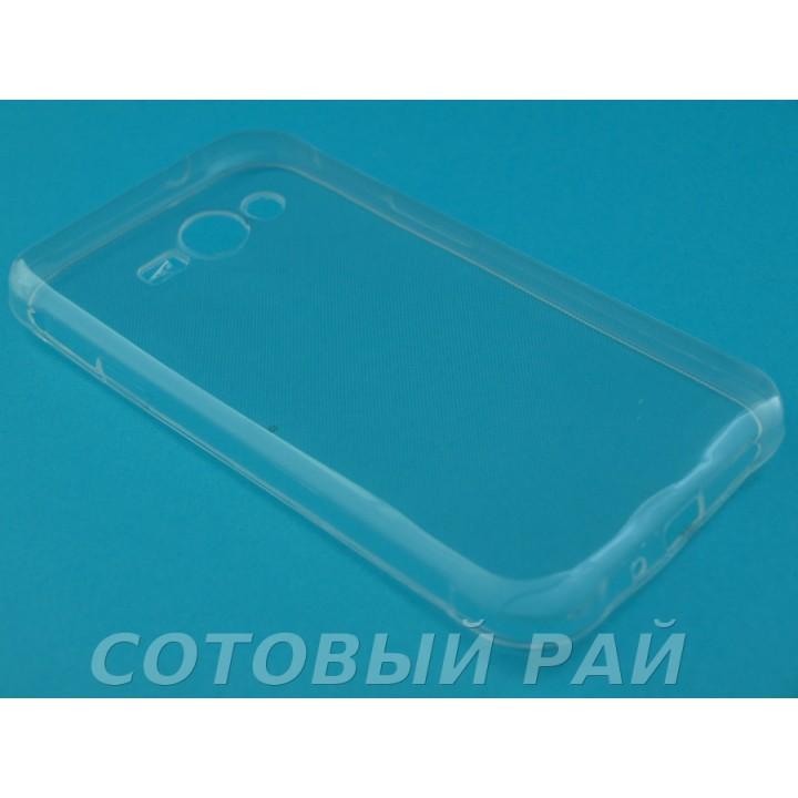 Крышка Samsung J110h (J1 Ace) Силикон TPU (Прозрачная)