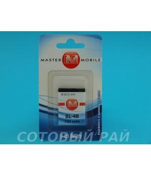 Аккумулятор Nokia BL-4B N76 , 6111 , 7370 , 7373 , 7500 (750mAh) MasterMobile