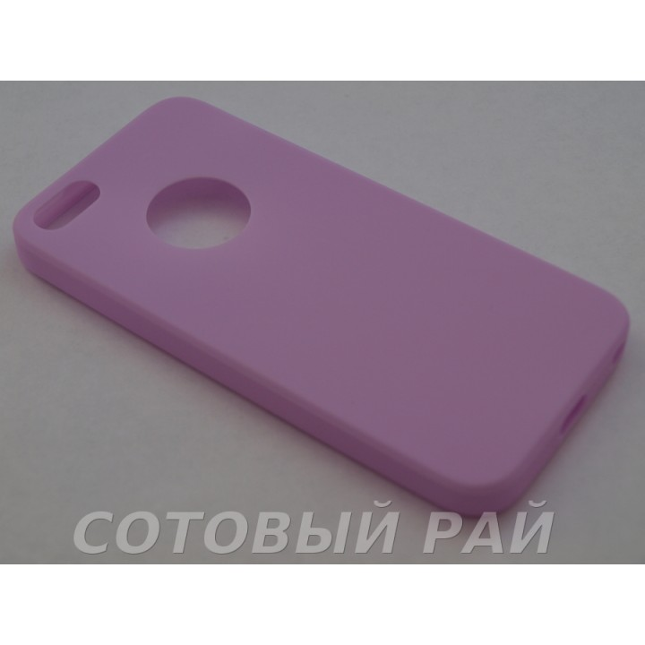 Крышка Apple iPhone 5/5S Силикон TPU (Пурпурный)