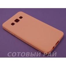 Крышка Samsung A300f (A3) Силикон TPU (Персиковый)