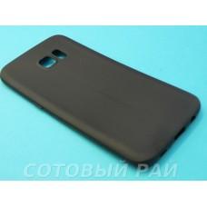 Крышка Samsung G935f (S7 Edge) Силикон TPU (Черная)
