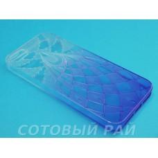 Крышка Apple iPhone 5/5S Силикон Двухцветный (Фиолетовый)