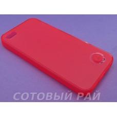 Крышка Apple iPhone 5/5S Силикон iFace с отверстием (Красный)
