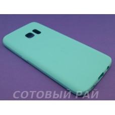 Крышка Samsung G930f (Galaxy S7) Силикон Paik (ГолуБой)