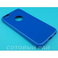 Крышка Apple iPhone 6 / 6s Силикон Блестящий (Синий)