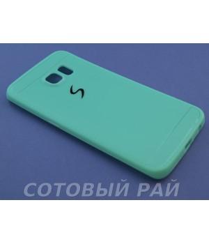 Крышка Samsung G925f (S6 Edge) Paik Силикон (Бирюзовая)