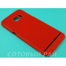 Крышка Samsung G935f (S7 Edge) Paik Сеточка (Красная)