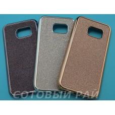 Крышка Samsung G930f (Galaxy S7) Блеск + металл окантовка