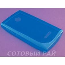 Крышка Nokia 435/532 Microsoft Just Slim Силикон (ГолуБая)