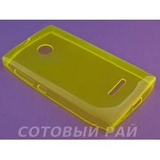 Крышка Nokia 435/532 Microsoft Just Slim Силикон (Желтая)