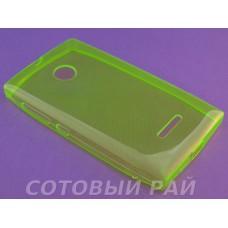 Крышка Nokia 435/532 Microsoft Just Slim Силикон (Зеленая)