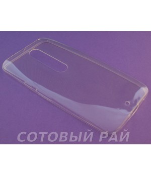 Крышка Motorola X Style Just Slim Силикон (Прозрачная)