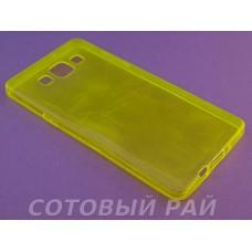 Крышка Samsung A500f (A5) Just Slim Силикон (Желтая)