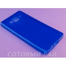 Крышка Samsung A500f (A5) Just Slim Силикон (Синяя)