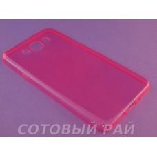 Крышка Samsung J710f (J7-2016) Just Slim cиликон (Розовая)