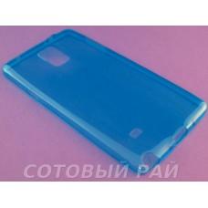 Крышка Samsung N910c (Note 4) Just Slim Силикон (ГолуБая)