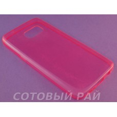 Крышка Samsung G930f (Galaxy S7) Just Slim Силикон (Розовая)