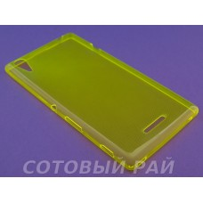 Крышка Sony Xperia T3 (D5103) Just Slim силикон (Желтая)