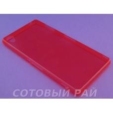 Крышка Sony Xperia Z3 (D6633) Just Slim cиликон (Красная)