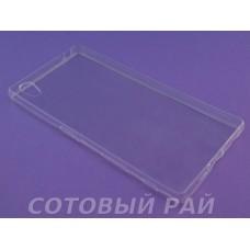 Крышка Sony Xperia Z5 (E6683) Just Slim силикон (Прозрачная)