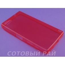 Крышка Sony Xperia Z5 Compact Just Slim силикон (Красная)