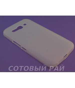 Крышка Alcatel One Touch Pop C9 7047D Just Силикон (Белая)