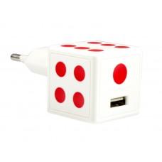 Сетевое Зарядное Устройство Partner Dice КуБик (+ каБель micro Usb) (1,5A) Белое
