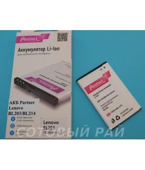 Аккумулятор Lenovo BL203 BL214 A269/A316/A369i/ZTE Blade L3/Prestigio PAP3400 (1500mAh) Partner