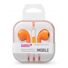 Гарнитура EuroPods Partner Mobile (Оранжевые) с микрофоном и пультом
