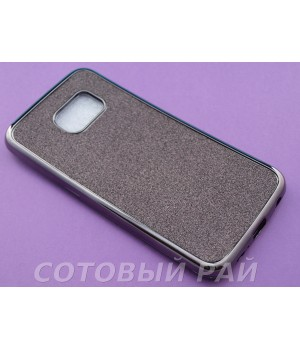 Крышка Samsung G925f (S6 Edge) Блеск + металлическая окантовка