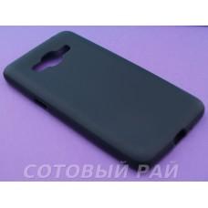 Крышка Samsung G532f (J2 Prime) Just Slim Силикон (Черная Матовая)