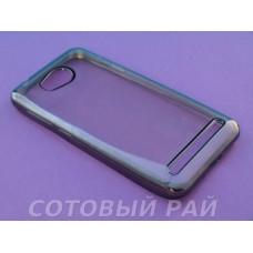 Крышка Huawei Y3     SILCO (Черный оБодок)