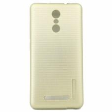 Крышка Xiaomi RedMi Note 4 Motomo Силикон (Золотая)